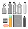 set of household chemistry vector image