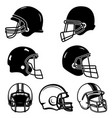set of of helmets for american football design vector image