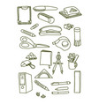 set thin line web icons graphic design vector image vector image