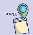 smartphone gps navigation location pin tourist vector image