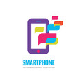 smartphone logo template mobile phone vector image