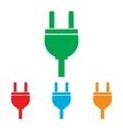 Socket sign Colorfull set vector image vector image