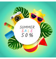 summer layout design greeting card cover book vector image vector image