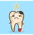 Unhealthy tooth concept vector image vector image
