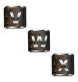 vwx iron letters vector image vector image