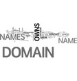 who owns domain names text word cloud concept vector image vector image