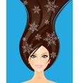 winter woman vector image vector image