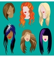 Womens Haircuts vector image