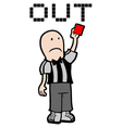 Red card vector image