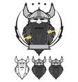 Viking head mascot vector image