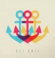 Anchor set sail concept background vector image