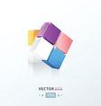 3D Cube twist pink blue orange Purple color vector image vector image