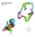 Abstract color map of Netherlands vector image