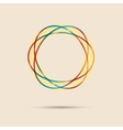 Abstract colored circular line vector image vector image