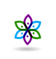 Abstract colorful flowers icon