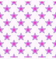 abstract seamless stars pattern vector image vector image