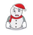 afraid snowman character cartoon style vector image vector image