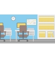 Background of office workplace vector image