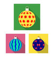 balls for decoration flat icons in set collection vector image