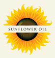 banner for sunflower oil with inscription vector image