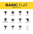 Basic set of Trophy icons vector image vector image