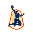 Basketball Player Dunk Rebound Ball Retro vector image vector image