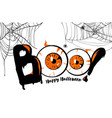 boo happy halloween banner background lettering vector image vector image