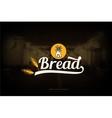Bread shop logo vector image vector image