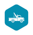 car towing truck icon in flat style icon vector image vector image