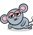cartoon kawaii mouse vector image vector image