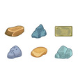 Cartoon stones and minerals set vector image