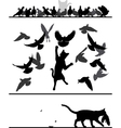 Cat amongst pigeons vector image vector image