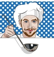 Chef offers to come to dinner vector image vector image