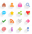 Color basic sign flat icon vector image vector image