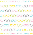 colorful glasses accessories stripes vector image vector image