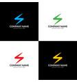 colorful lightning zipper spark logo vector image