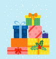 colorful wrapped gift boxes vector image vector image