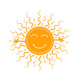 concept of carnival as the sun vector image