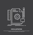 creative design develop feedback support icon vector image vector image