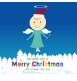 cute angel and merry christmas event vector image