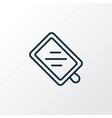 cutting board icon line symbol premium quality vector image