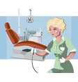 dental clinic and dentist medical background vector image
