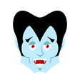 dracula happy emoji vampire merry emotion face vector image vector image