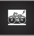 environment friendly transportation on black vector image