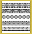 ethnic lace patterns vector image