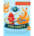 Fire safety poster vector image vector image