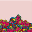 floral pattern below vector image vector image