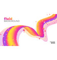 fluid background abstract colorful shape vector image vector image