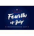fourth july usa lettering poster blue vector image vector image