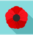 garden poppy flower icon flat style vector image